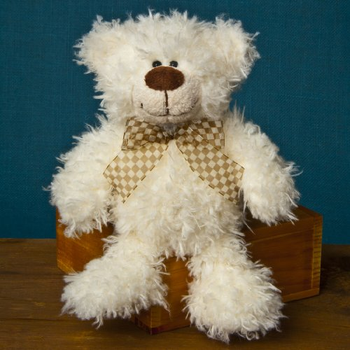 Mary Meyer Fuzzy Face Plush Bear Small 9