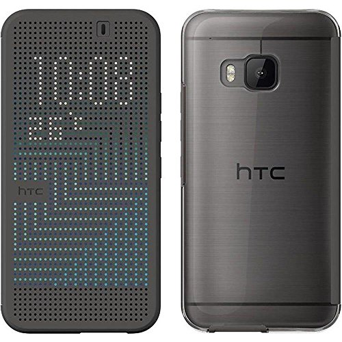 HTC M232 Dot View Ice Custodia per HTC One M9, Nero