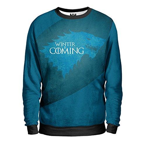 WINTER IS COMING - CASATA TRONO DI SPADE Sweatshirt - Felpa Uomo - Westeros Stark Lannister Arryn Tyrell Greyjoy Martell Targaryen, George Martin Game of Thrones T-Shirt