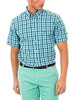McGregor Camisa Hombre Disty Kenneth B Bd Rf Ss (Verde / Azul)