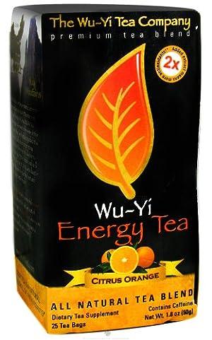 The Wu Yi Tea Company Tea Energy Citrus Orange, 25-Count