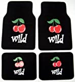 Wild Cherries Cherry Front & Rear Carpet Car Truck SUV Floor Mats