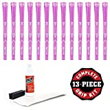 Karma Grip Kit with Tape, Solvent and Vise Clamp (13-Piece), Pink Sparkle