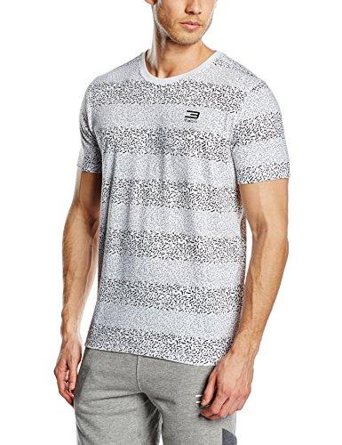 Jack & Jones Maglietta da uomo caward a maniche corte, scollo rotondo, Uomo, T-Shirt Caward Tee Short Sleeve Crew Neck, bianco, L