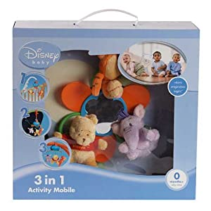 Disney 3 In 1 Winnie The Pooh Activity Mobile Cot New