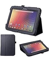 Supremery 255 Etui pochette en cuir avec Support pour Google Nexus 10 Noir