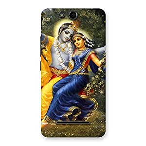 Radha Krishna Multicolor Back Case Cover for Micromax Canvas Juice 3 Q392