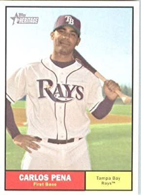 2010 Topps Heritage Baseball Card # 216 Carlos Pena - Tampa Bay Rays - MLB Trading Card