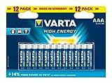 Varta High Energy AAA Batteries - 12-Pack