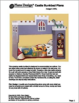 Castle Loft  Bunk Bed Furniture Woodworking Plans