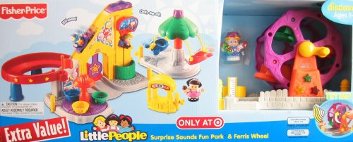 Little People Surprise Sounds Fun Park & Ferris Wheel W Lights & Sounds - Target Exclusive Playset (2008)