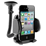 BIRUGEAR Universal Windshield Car Mount Holder (Small) for Nokia Lumia 1020/ 625/ 925/ 620/ 520/ 920/ 820/ 810/ 710/ 900 And Other Cellphone Smartphone