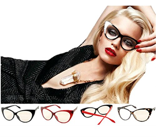 Clear Lens Women's Fashion Cat Eye Eyeglasses Frame Retro Style