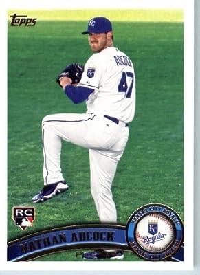 2011 Topps Baseball Card #503 Nathan Adcock RC - Kansas City Royals (RC - Rookie Card) MLB Trading Card (Series 2)