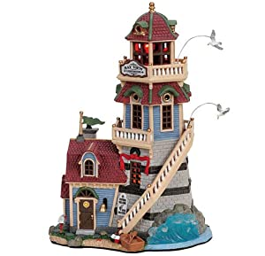 Lemax Plymouth Corners Village Collection Bay View Lighthouse #65402