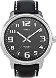 Timex® Men's Black Leather Easy Reader Watch #T28071