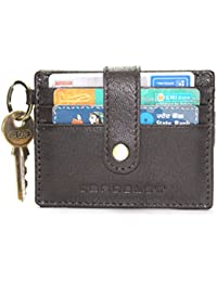 Genuine Leather Old River Brown Minimalist Cardslet Wallet In Brown Leather 6 Credit Card Holders (CRT-CE-01BRN)