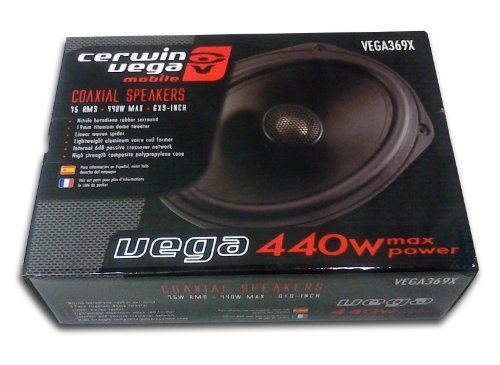 Cerwin Vega Vega369X 900-Watt 6X9 Coaxial 700W 75W Rms Power Amplifier