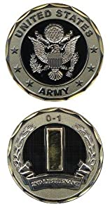US Army 2nd Lieutenant O-1 Challenge Coin