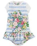 Ralph Lauren Baby Girls 2 Piece Floral/Stripe Dress