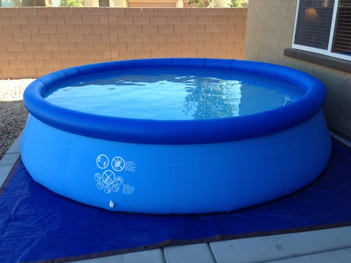 intex 12 foot by 30 inch family size round metal frame pool set