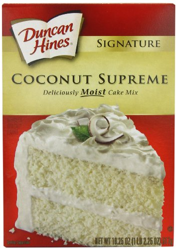 Duncan Hines Signature Coconut Cake Mix, 18.25-Ounce Boxes (Pack of 6)