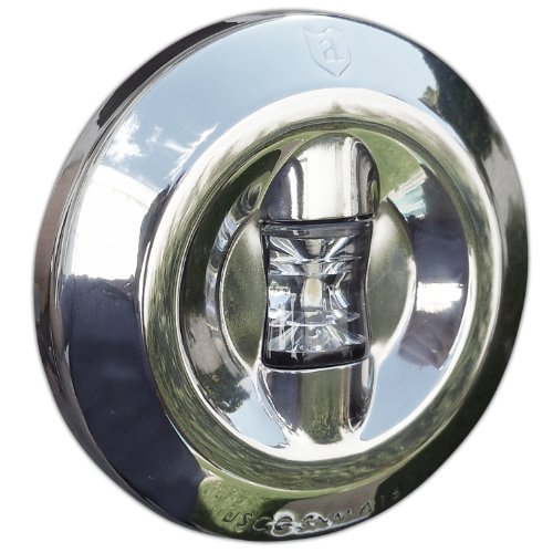 Led Round Stern Transom Light for Boats 3 Nm . Stainless Steel - Attwood 6556-7