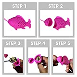 "Blisslii ""FISHING"" TEA INFUSERS GIFT SET (Variety Pack of 2)! Premium quality 2 Colorful Mood Fish filters for Tea lovers Party - Loose Tea Leaf Strainers, Diffusers, Herbal Spice Filters."