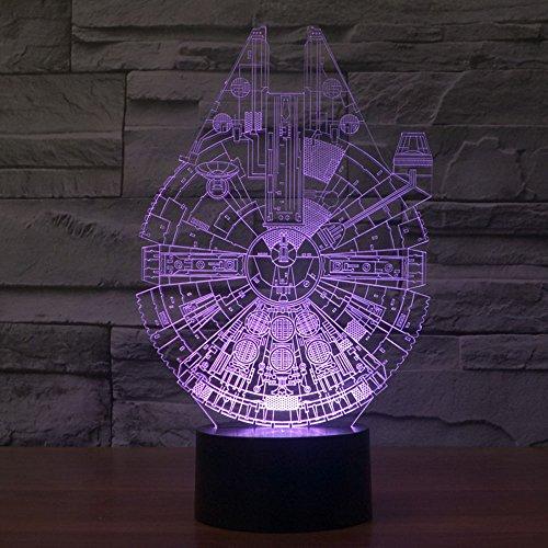 OBQ 3d illusione ottica Millennium Falcon Lighting-Decorazione lampada