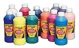 Crayola Artista II Washable Liquid Tempera Paint - Pint - Set of 12 - Assorted Colors