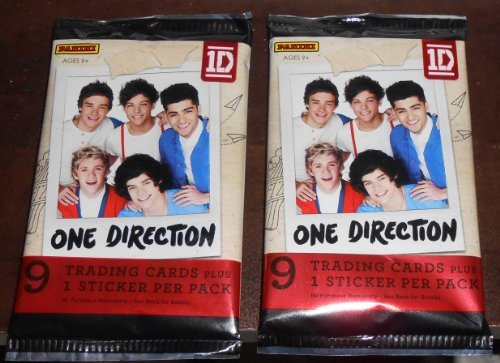 2013 - 2 PACKS - ONE DIRECTION TRADING CARDS (18 CARDS & 2 STICKERS) - 1