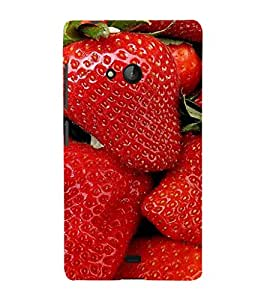 EPICCASE Strawberry love Mobile Back Case Cover For Nokia Lumia 540 (Designer Case)
