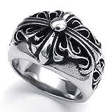 PW 高品質ステンレス クロムハーツ風指輪 22467