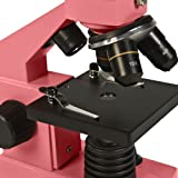Levenhuk 2L NG Rose Microscope monocular three objectives 64-640x bright color