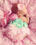 マタニティフォト撮影用マタニティサッシュリボンベルト☆ピンクアクア☆妊婦さんへのプレゼントに♪【セミオーダー】