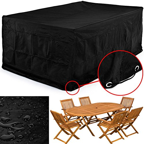 Pixnor 250 250 90cm waterproof chaise lounge chair covers for Chaise lounge covers waterproof