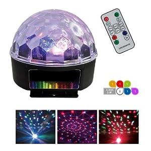 jeu de lumiere led sphere multicolore 82 lentilles 360 6. Black Bedroom Furniture Sets. Home Design Ideas