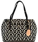 Coach Peyton Dream C Double Zipper Black White F25457