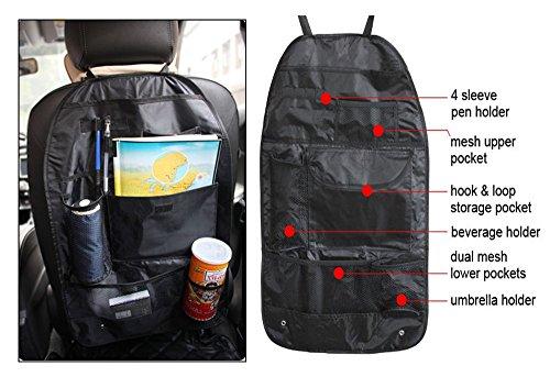 Vheelocity 70992 Black Car Back Seats Multi-functional Pockets Storage Organizer Bag