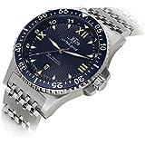 Xezo for Unite4:good Mens Air Commando Professional Pilot Diver Automatic Watch. Swiss Sapphire