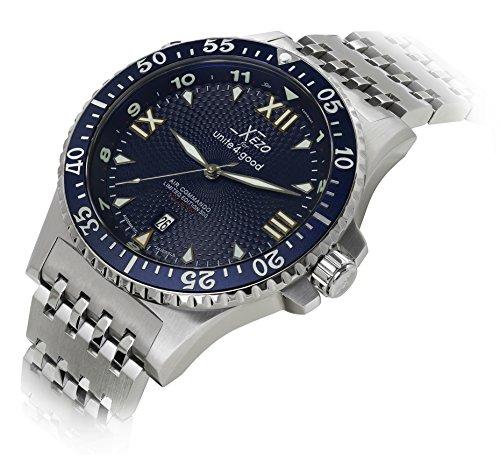 Orologio automatico di lusso Xezo for Unite4:good Air Commando, cristallo zaffiro svizzero, movimento Citizen, 20 ATM. In serie