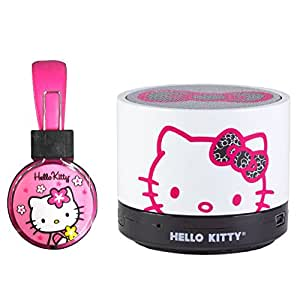 hello kitty microphone headphone with hello kitty bluetooth speaker pink electronics. Black Bedroom Furniture Sets. Home Design Ideas