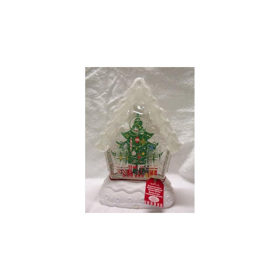 Hallmark Jumbo Lighted Home Sweet Home Christmas Tree Snow Globe