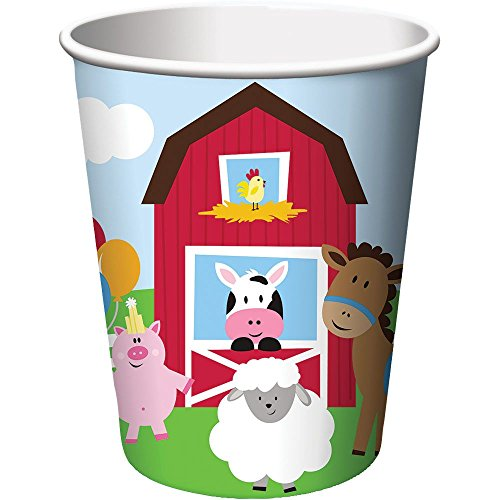 Creative Converting BB375506 Farmhouse 9oz Cups -8 Pack