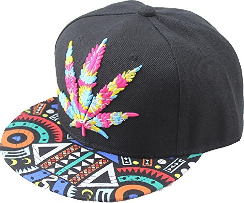YOXO-Hip-Pop-Marijuana-Weed-Green-Snapback-Cap-Hat-Men-Baseball-Cap