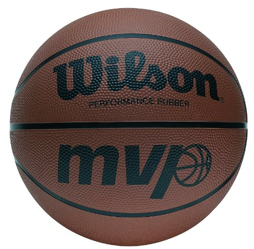 Wilson MVP BasketBall - Size 7, Orange/Black