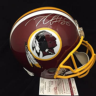 Jordan Reed Washington Redskins Autographed Full Size Helmet Jsa Coa Signed