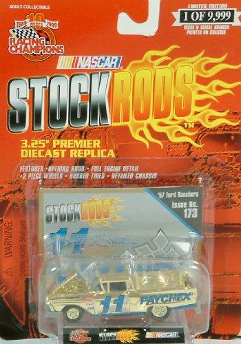 Racing Champions - Nascar Stock Rods - 57 Ford Ranchero - Gold