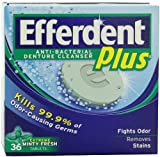 Efferdent Plus Denture Cleanser Tablets With Listerine Freshburst 36-Count