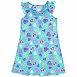 Komar Kids Aqua Hearts Nightgown For Girls